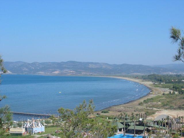 die Bucht von Pamucak