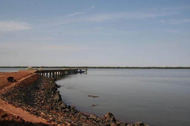 am Gambia Fluss