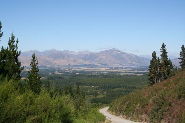 Abfahrt nach Hanmer Springs