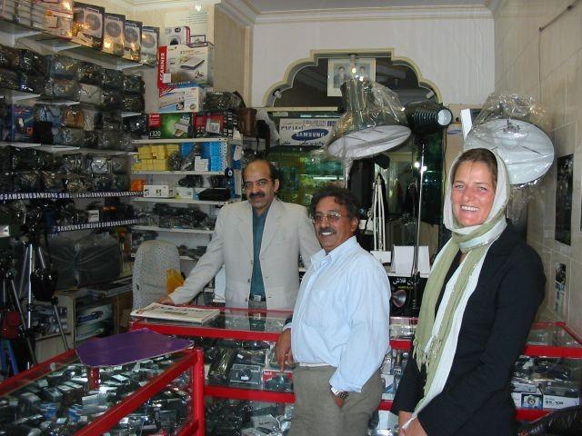 mit Mohammed im Kameraladen