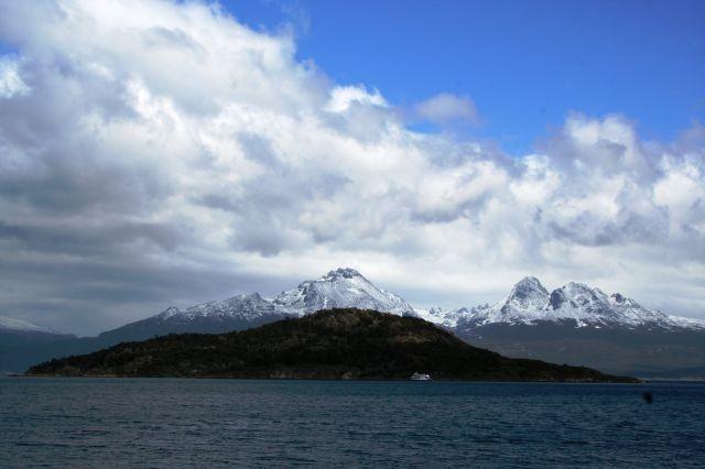 schneebedeckte Gipfel um Ushuaia