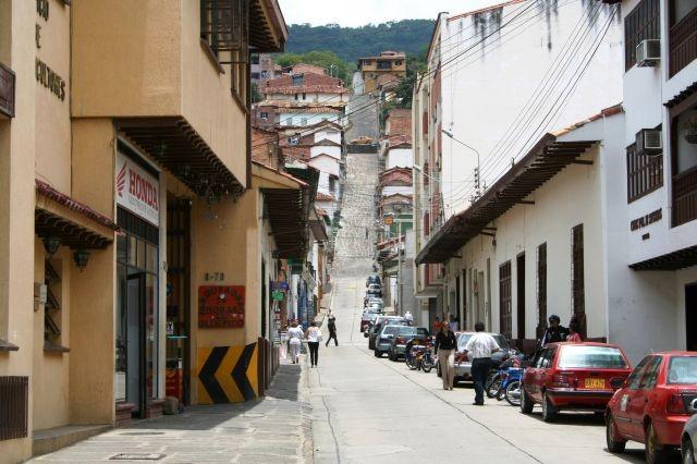 steil aufwärts in San Gil