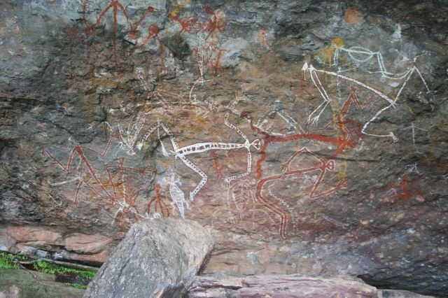 Felsenmalerei am Nourlangie Rock