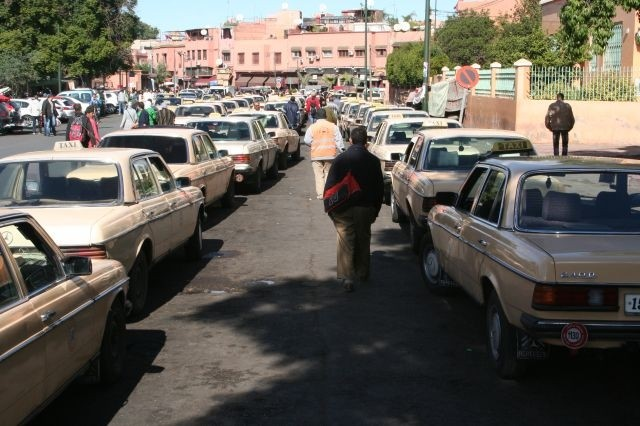 Taxistand in Marrakesch