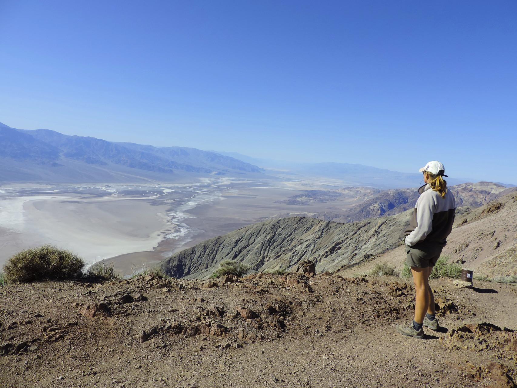 Blick auf die Badlands im Death Valley