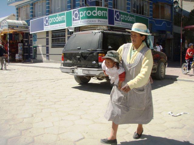 Menschen in Uyuni