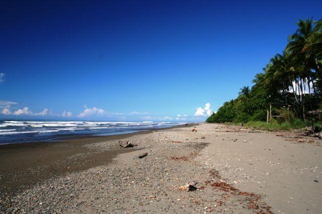 schwarzer Sand in Dominical