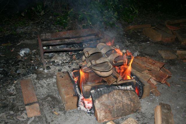 Jupp's Birkenstock-Verbrennung