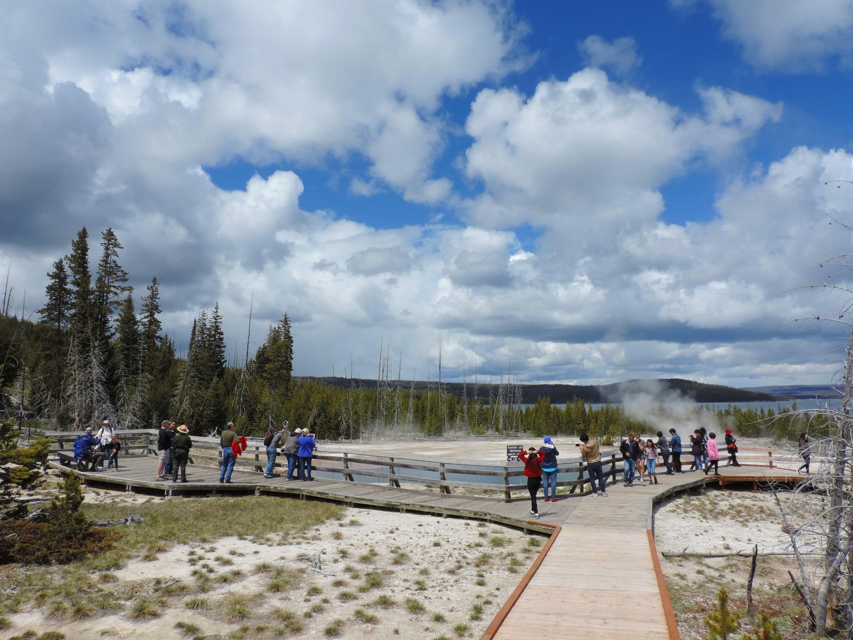 im Yellowstone N.P. qualmt es gewaltig