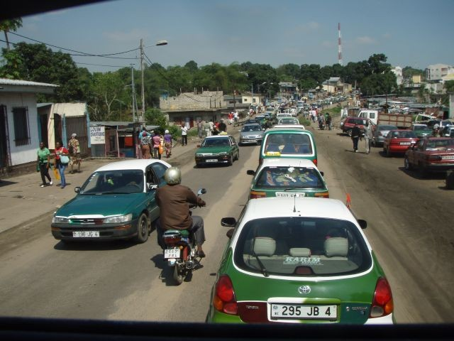 Ausfahrt aus Brazzaville