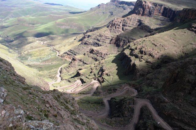 Sani Pass von oben