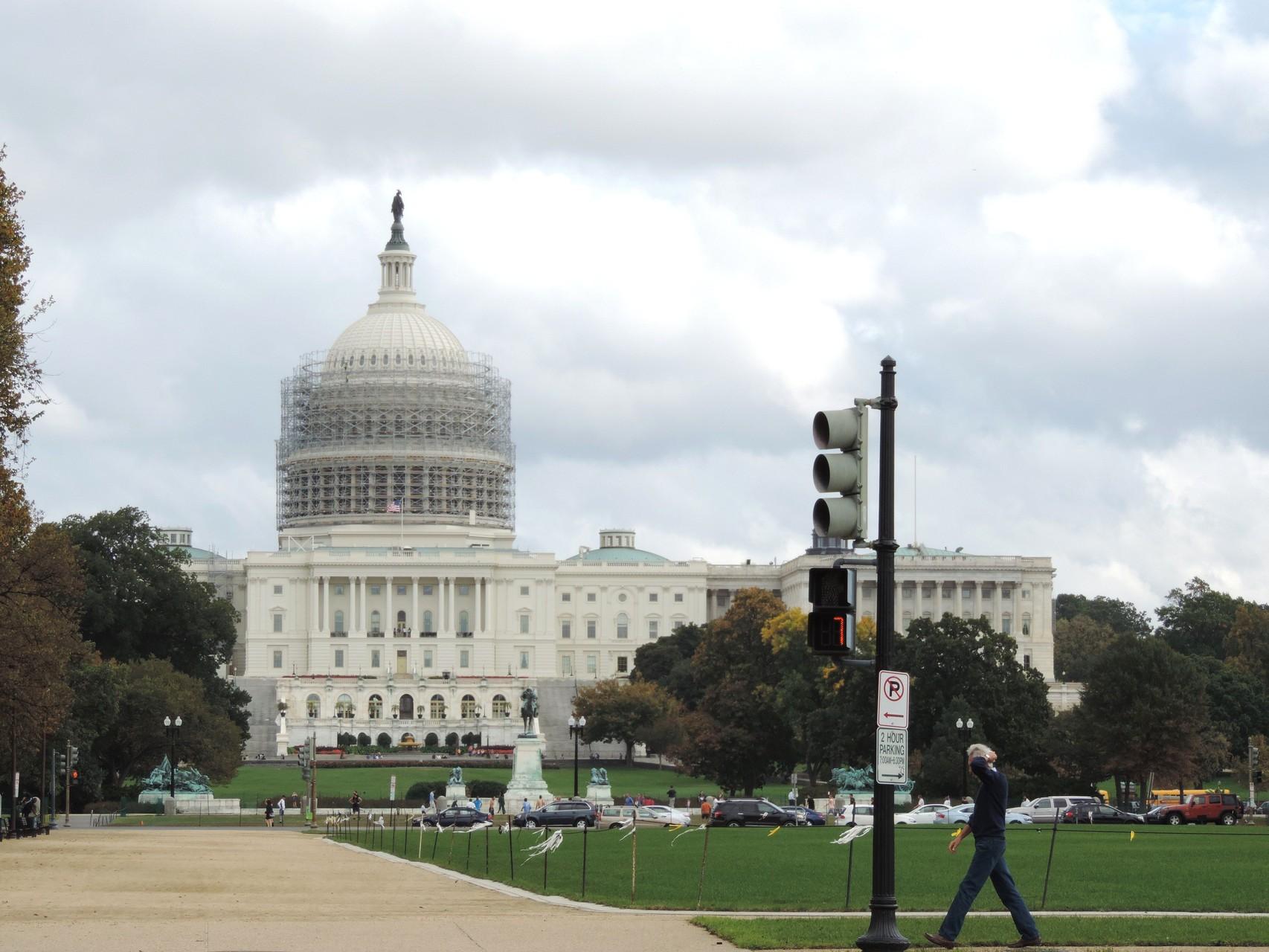 das Capitol leider eingerüstet