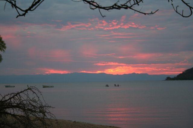 Sonnenuntergang in Cape Maclear