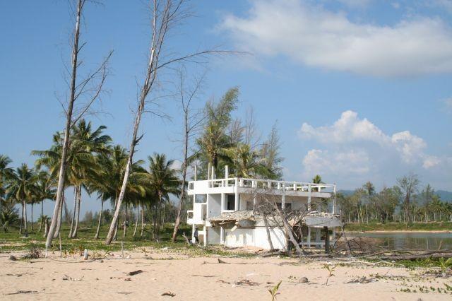 Tsunami Überbleibsel