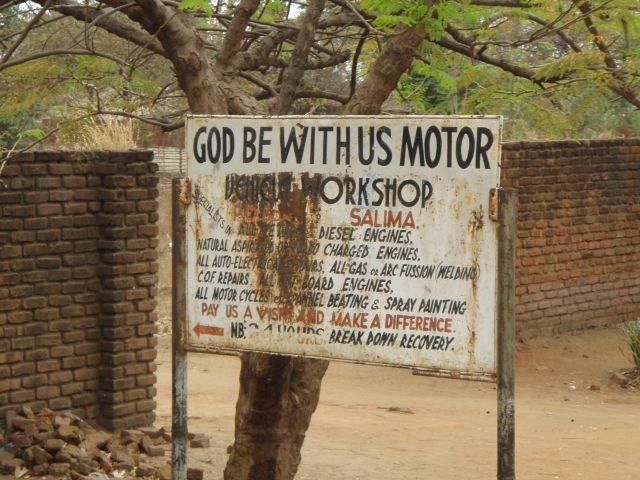 Gottvertrauen braucht man in dieser Werktstatt