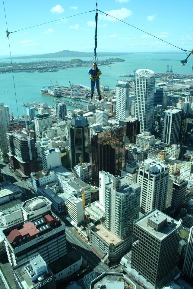 Skyjump über Auckland