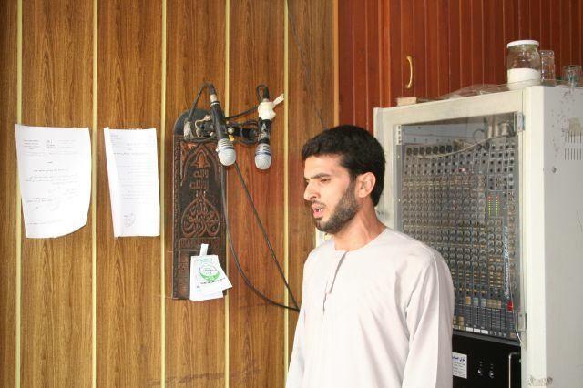 Muezzin bei der Arbeit