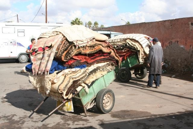 Teppichhandel in Marrakesch