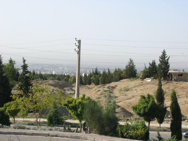 Smog über Teheran Downtown