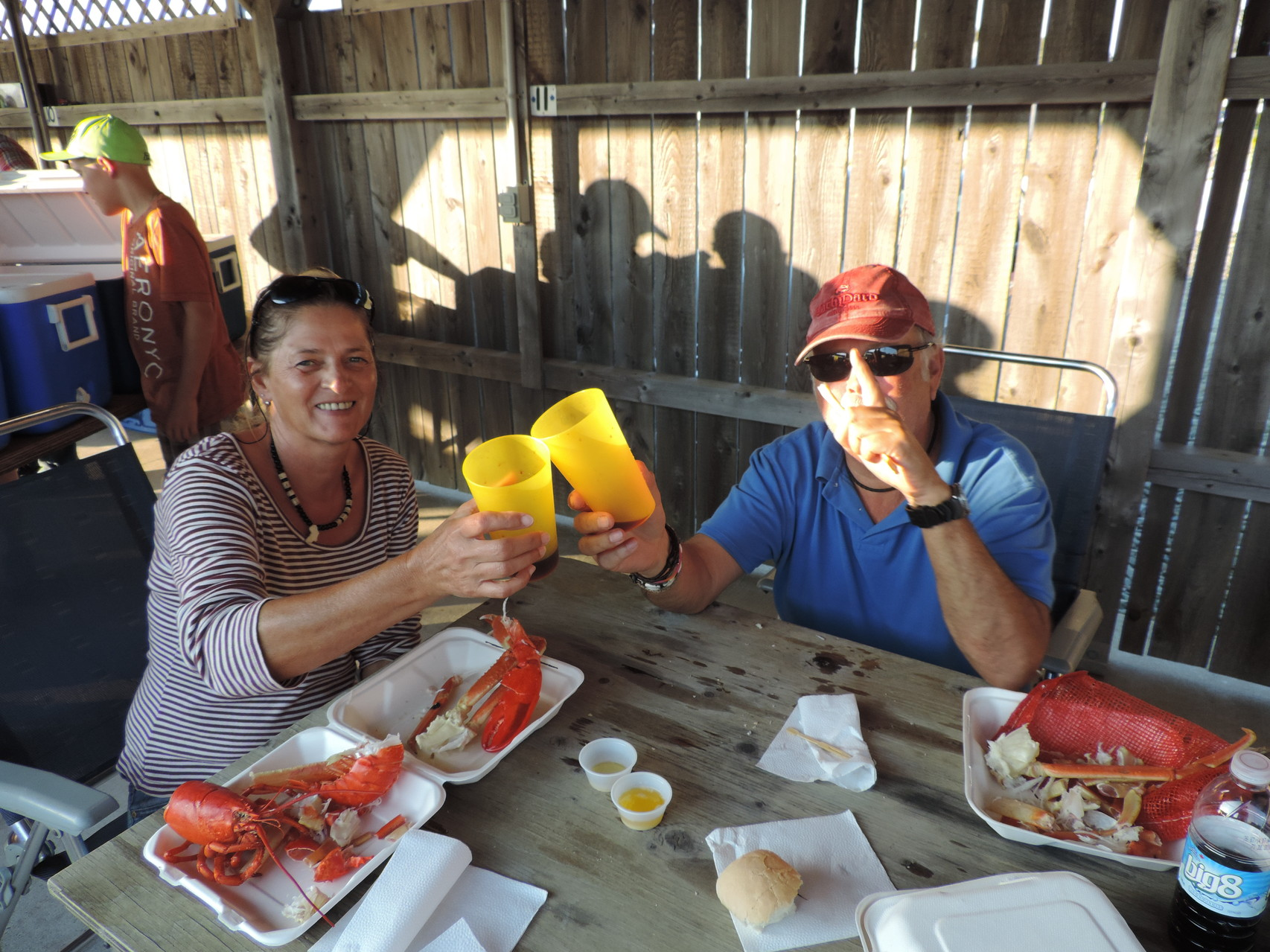 wir genießen Lobster bis zum Abwinken