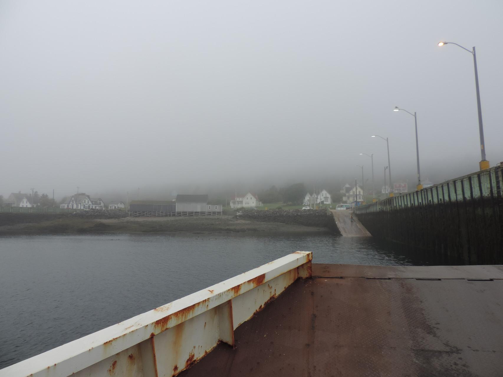 Überfahrt im Nebel