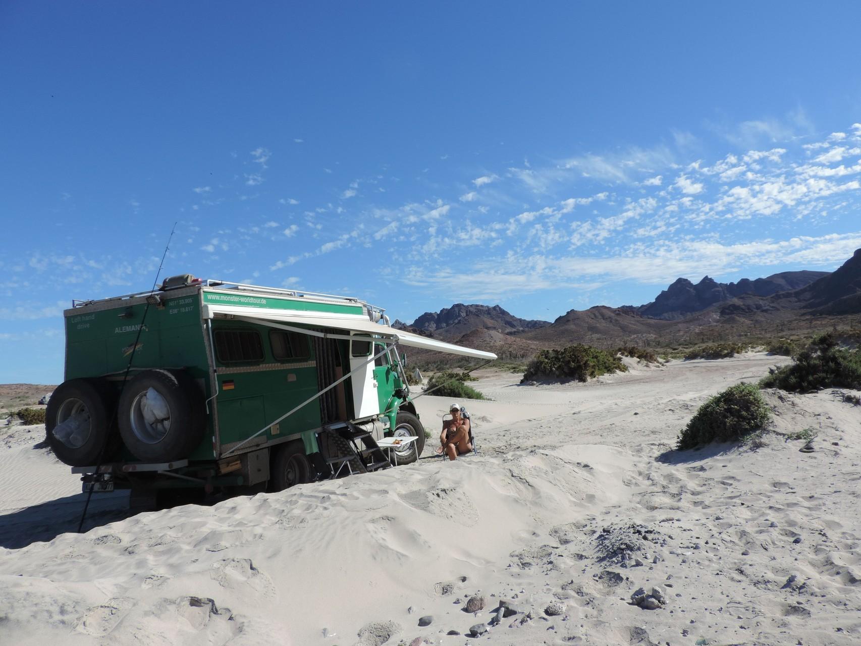 Strandleben am Playa Tecolote