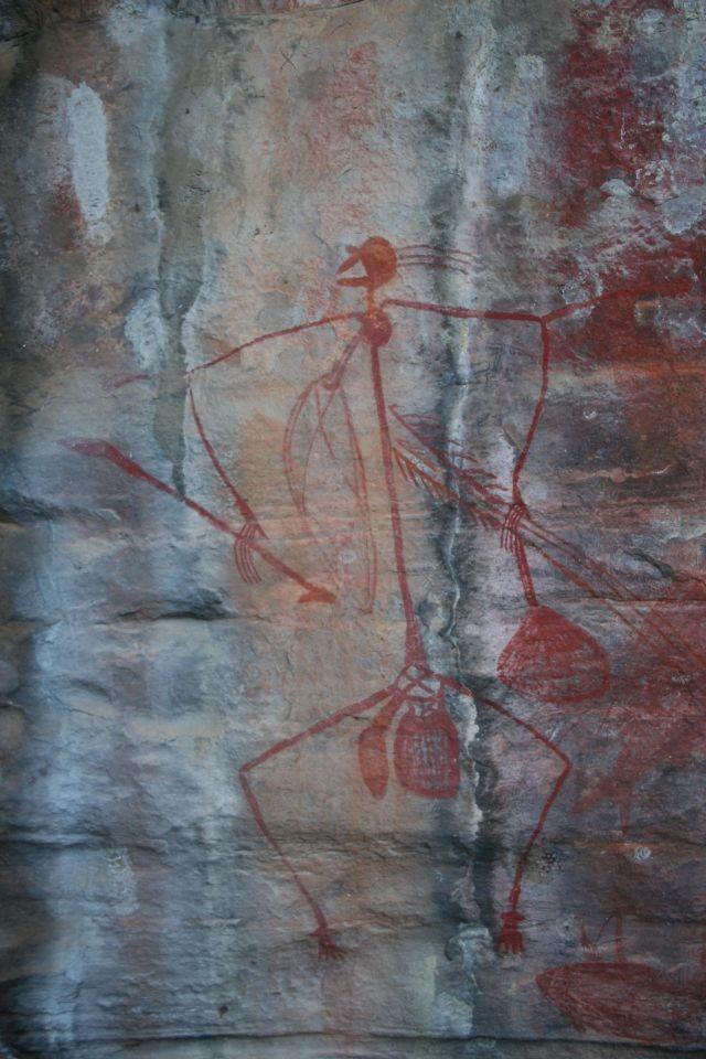 Felsenmalerei am Ubirr Rock