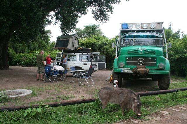 Besuch im Camp