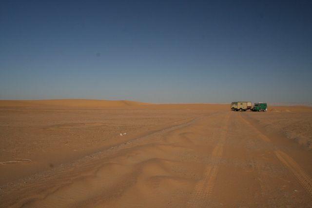 unsere Spuren im Sand