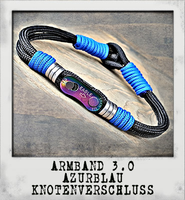 Armband 3.0 Azurblau Knotenverschluss