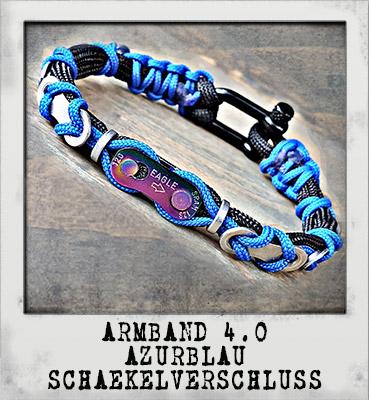 Armband 4.0 Azurblau Schäkelverschluss