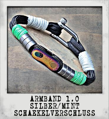 Armband 1.0 Silber/ Mint Schäkelverschluss