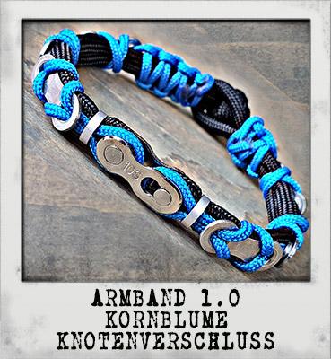 Armband 2.0 Azur Knotenverschluss