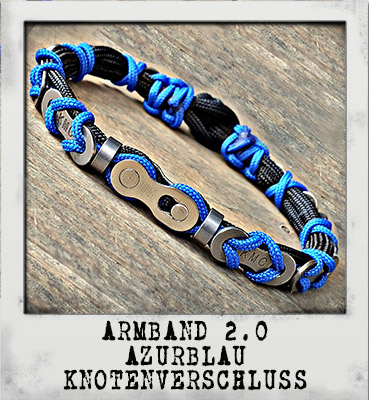 Armband 2.0 Azurblau Knotenverschluss