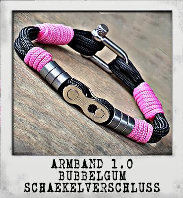 Armband 1.0 Bubbelgum Schäkelverschluss