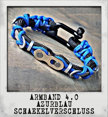 Armband 4.0 Azur Schäkelverschluss