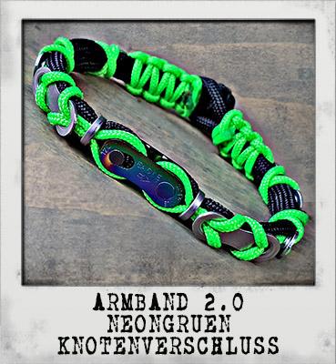 Armband 2.0 Neongrün Knotenverschluss
