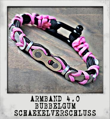 Armband 4.0 Bubbelgum Schäkelverschluss