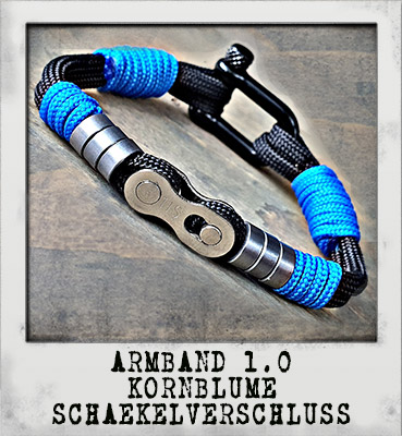 Armband 1.0 Kornblume Schäkelverschluss
