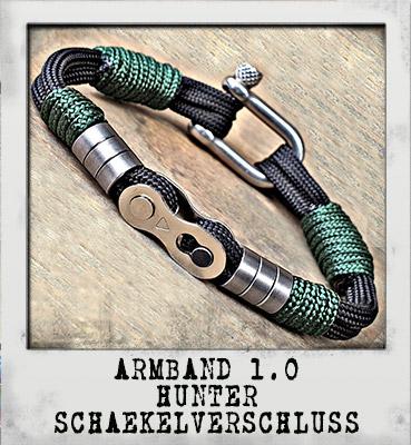Armband 1.0 Hunter Schäkelverschluss