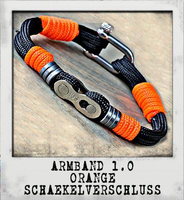 Armband 1.0 Orange Schäkelverschluss