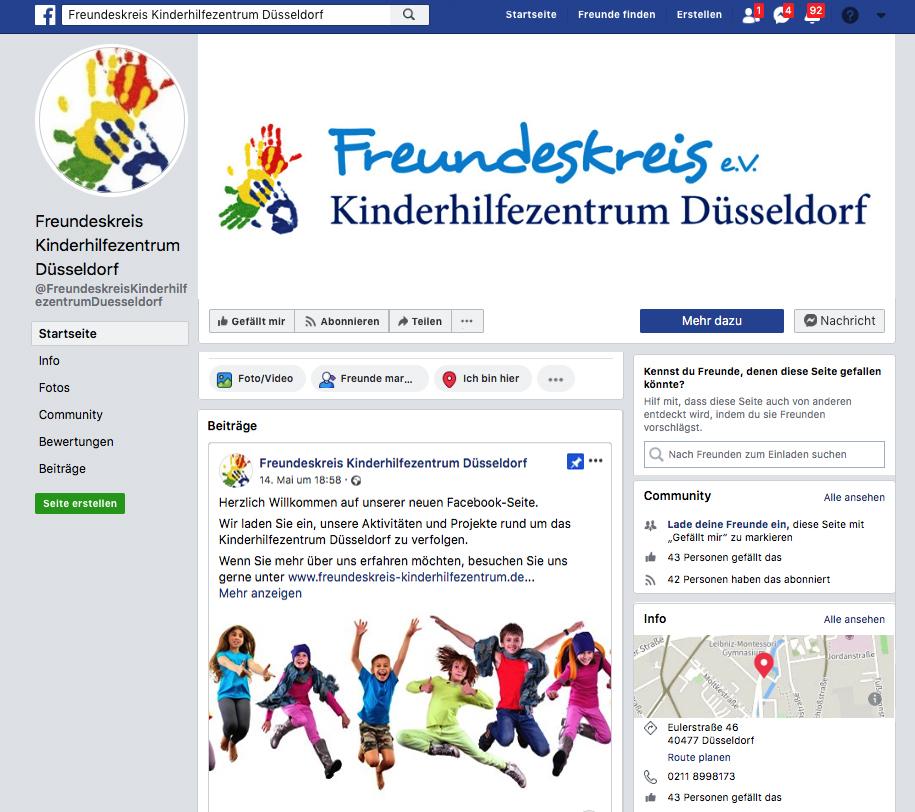 Der Freundeskreis Kinderhilfezentrum ist jetzt auch auf Facebook präsent.