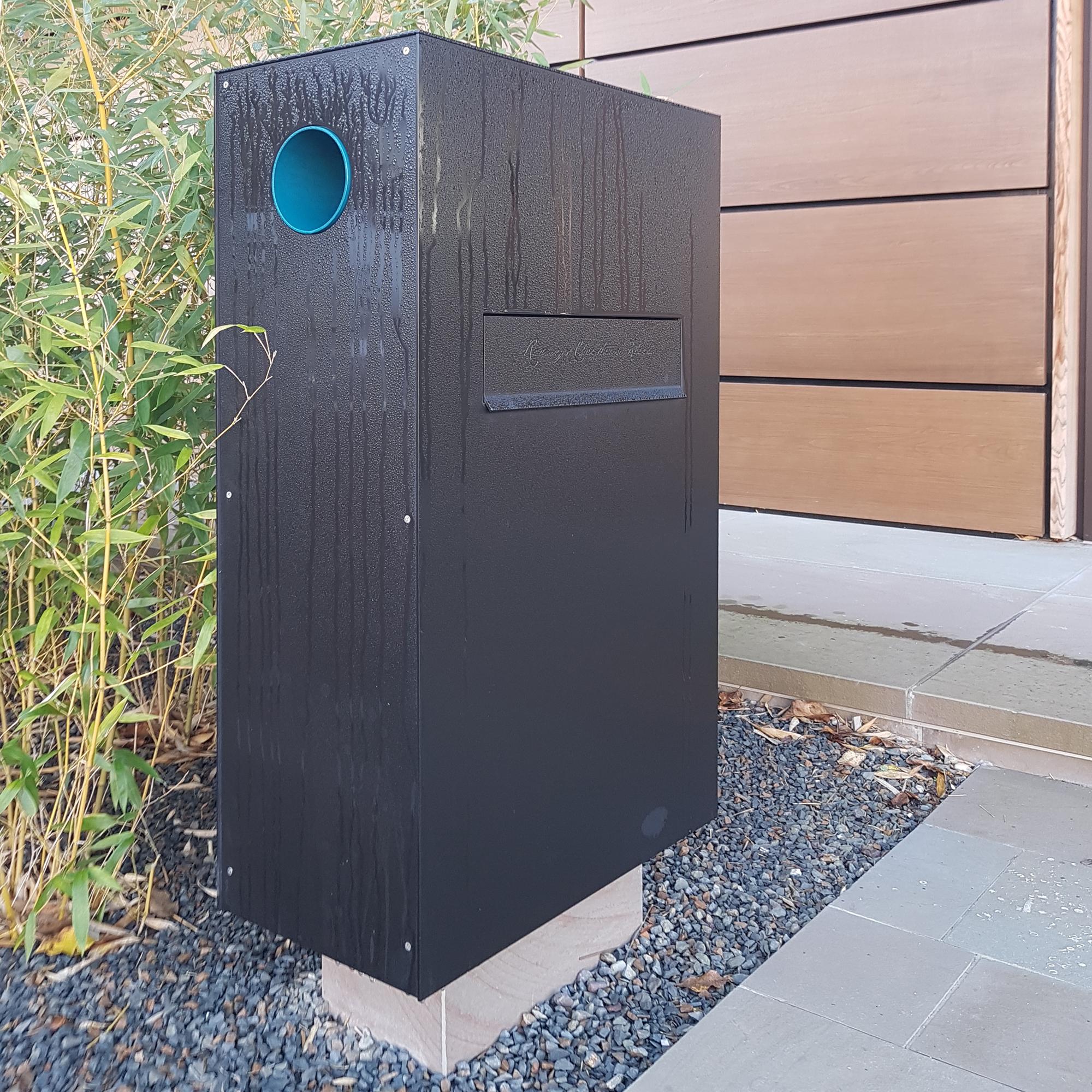Briefkasten Stele | Aluminium eloxiert C34