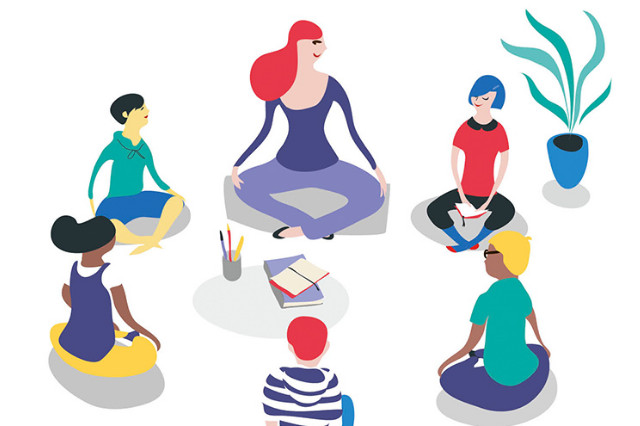 mediter avec les enfants