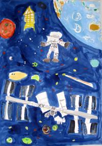「宇宙に行ってみたいな」4年