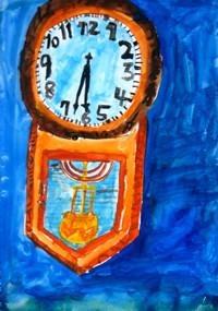 「古時計」4年 疲れたけれど、最後の最後まで細部にこだわり完成させました。