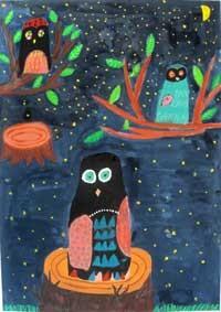 「静かな夜の森」5年