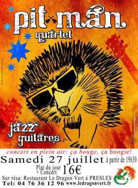 concert jazz manouche au Dragon Vert