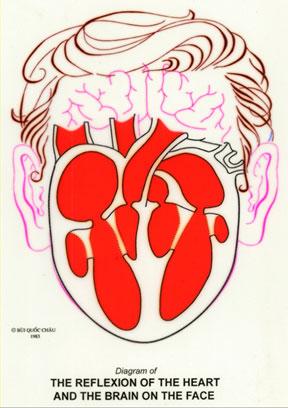 Dien Chan réflexologie du coeur sur le visage