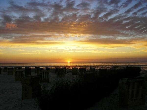 Sonnenuntergang in Duhnen
